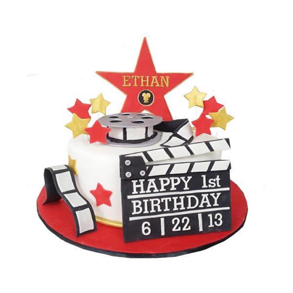 1 Tier Hollywood Movie Cake
