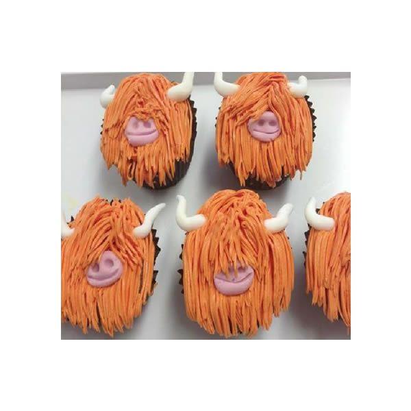 Highland Cow Cupcakes