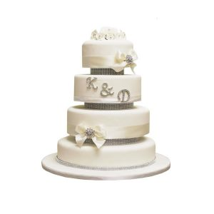 Initials Wedding Cake