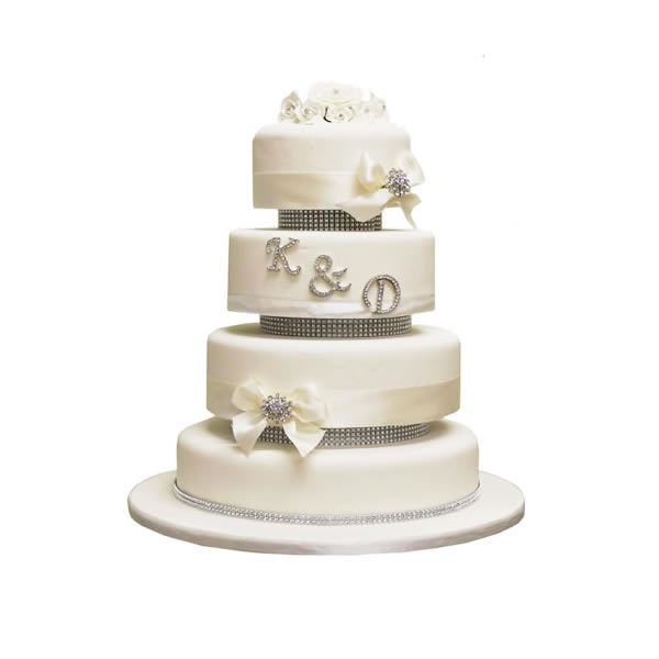 Initials Wedding Cake