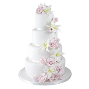 Lily Rose Wedding Cake