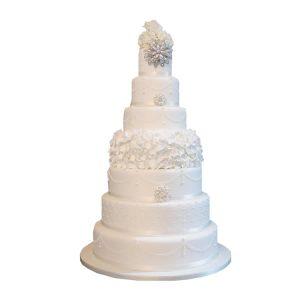 Pearl Elegance Wedding Cake