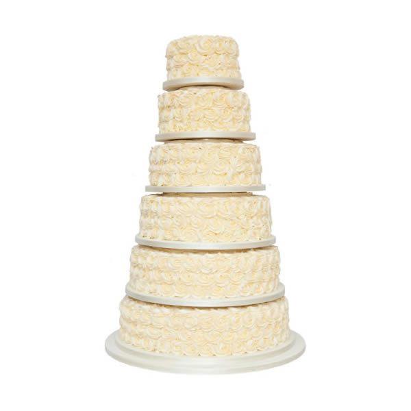 Rose Swirl Wedding Cake