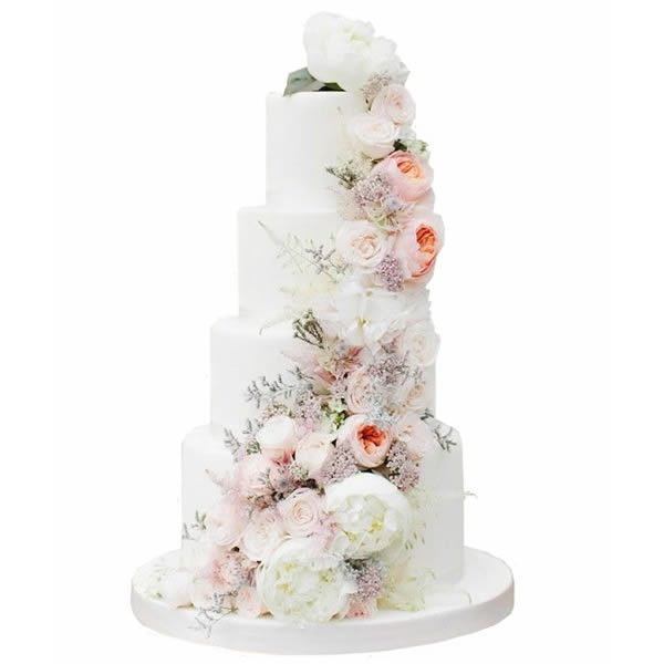 Summer Blossom Wedding Cake