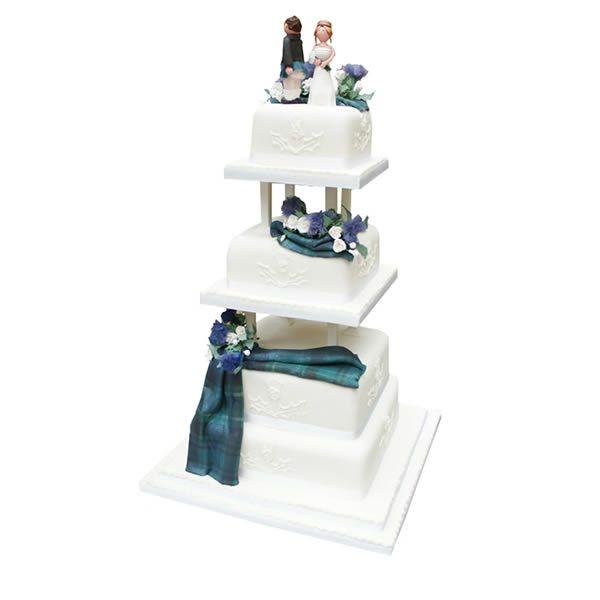 Tartan Tower Wedding Cake