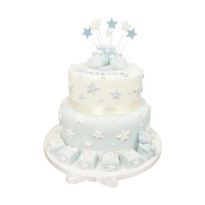 Playcubes Tiered Christening Cake