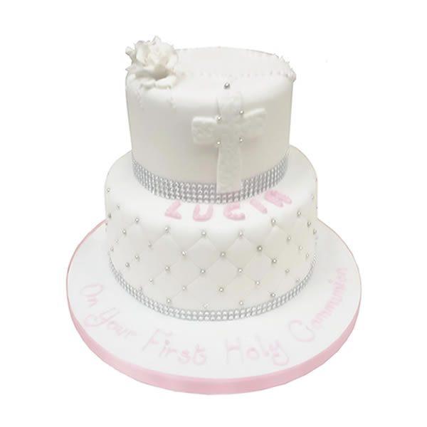2-Tier-Communion-Rose-cake