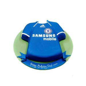 Football Strip Birthday Cake