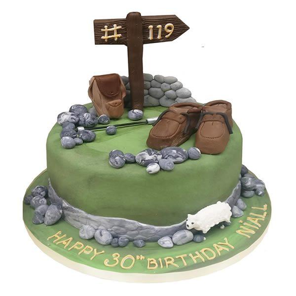 Hillwalking Birthday Cake