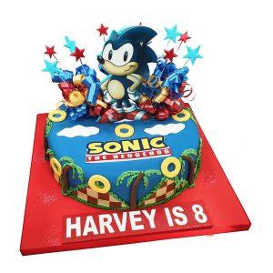 Sonic Hedgehog Birthday Cake
