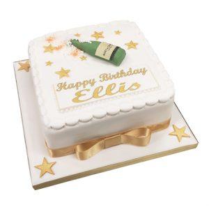 Champagne Birthday Cake3