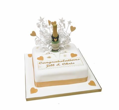 Champagne Surprise Cake