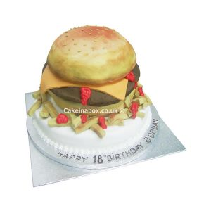 Burger-Birthday-Cake