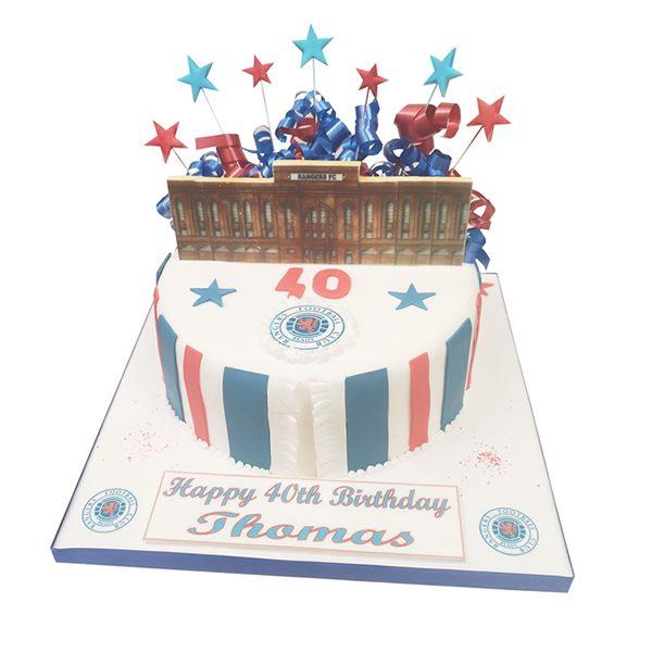 Rangers Birthday Cake